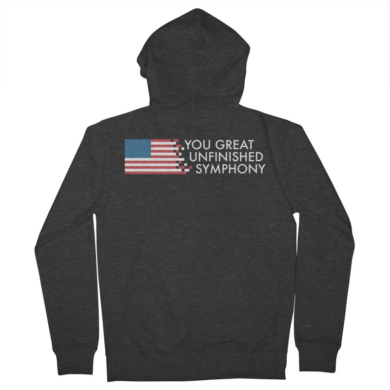 You Great Unfinished Symphony Men's French Terry Zip-Up Hoody by Steger