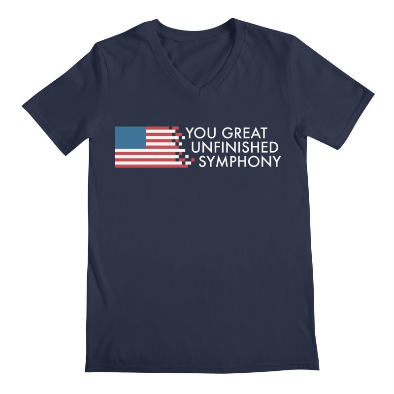 You Great Unfinished Symphony Men's Regular V-Neck by Steger