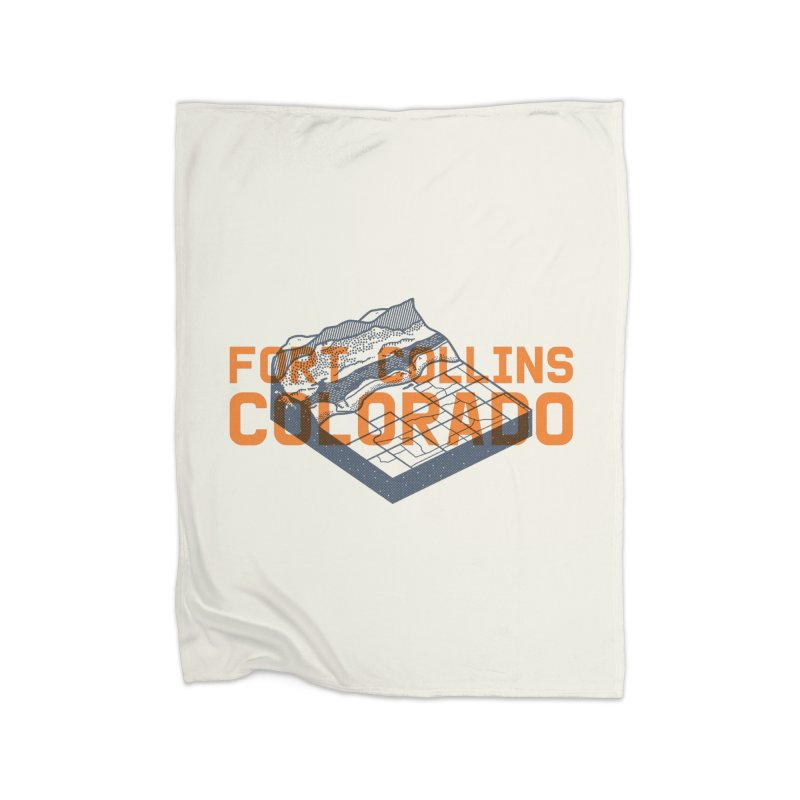 Fort Collins, Colorado Home Fleece Blanket Blanket by Steger