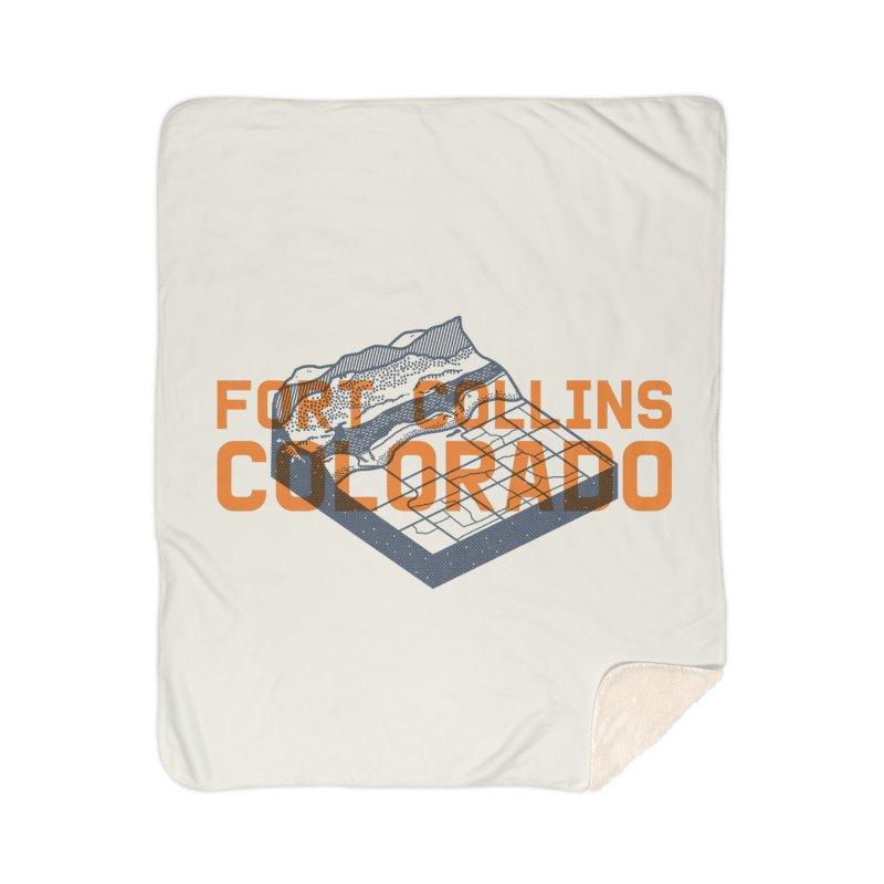 Fort Collins, Colorado Home Sherpa Blanket Blanket by Steger