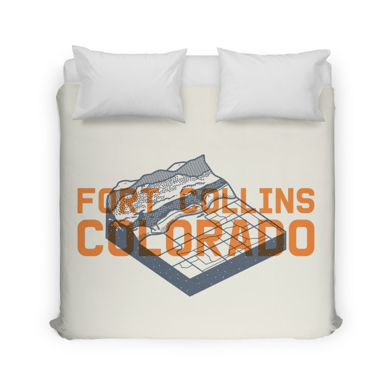 Fort Collins, Colorado Home Duvet by Steger