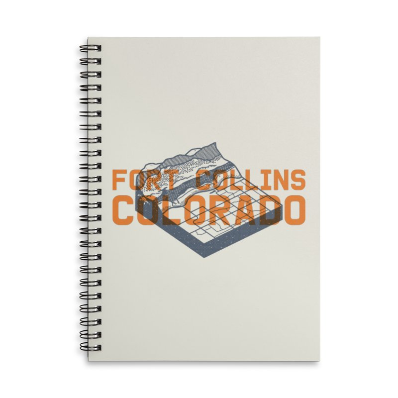 Fort Collins, Colorado Accessories Lined Spiral Notebook by Steger