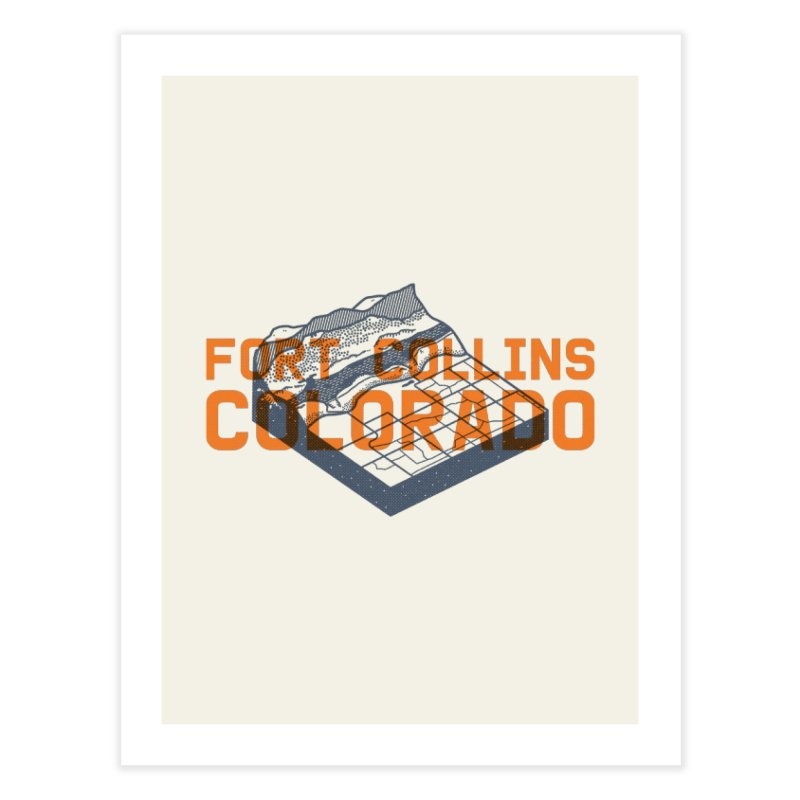 Fort Collins, Colorado Home Fine Art Print by Steger