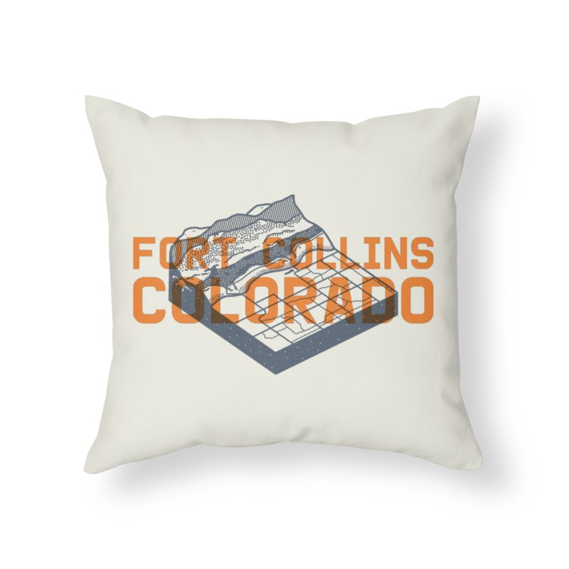Fort Collins, Colorado Home Throw Pillow by Steger