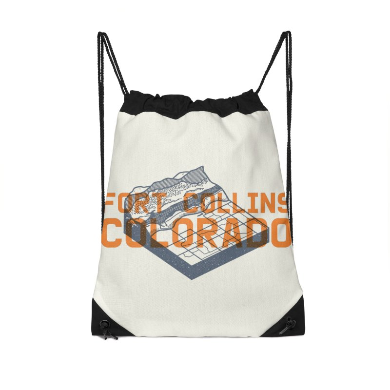 Fort Collins, Colorado Accessories Drawstring Bag Bag by Steger