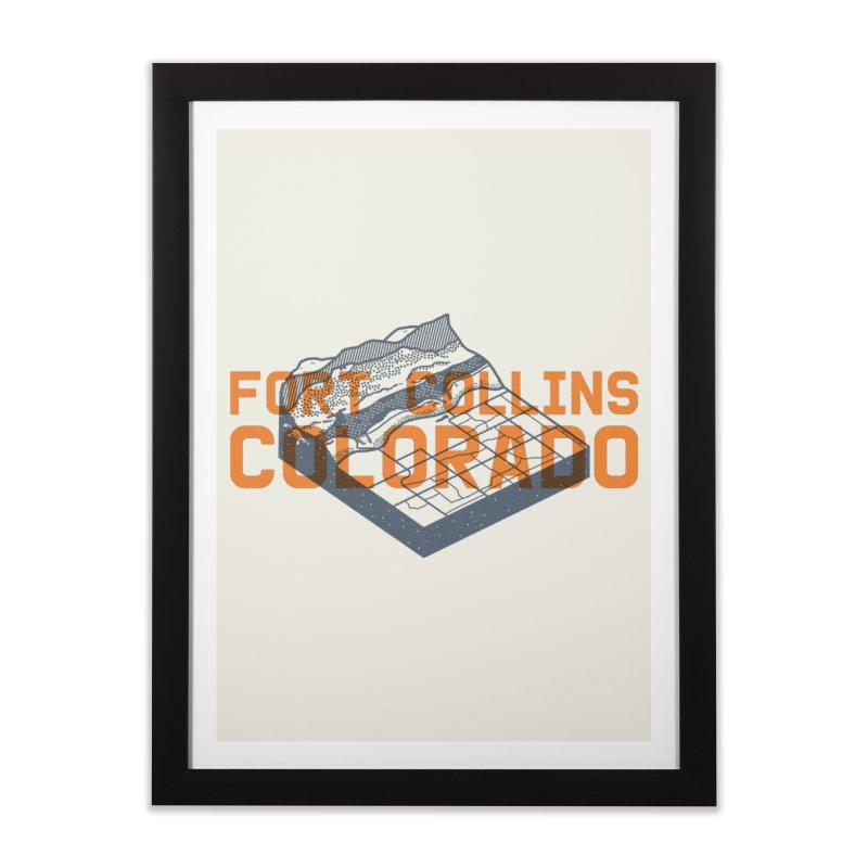 Fort Collins, Colorado Home Framed Fine Art Print by Steger