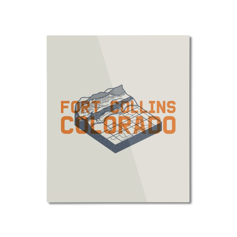 Fort Collins, Colorado Home Mounted Aluminum Print by Steger