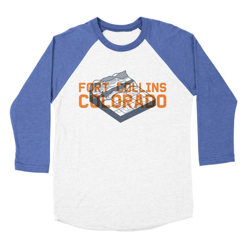 Fort Collins, Colorado Men's Baseball Triblend Longsleeve T-Shirt by Steger