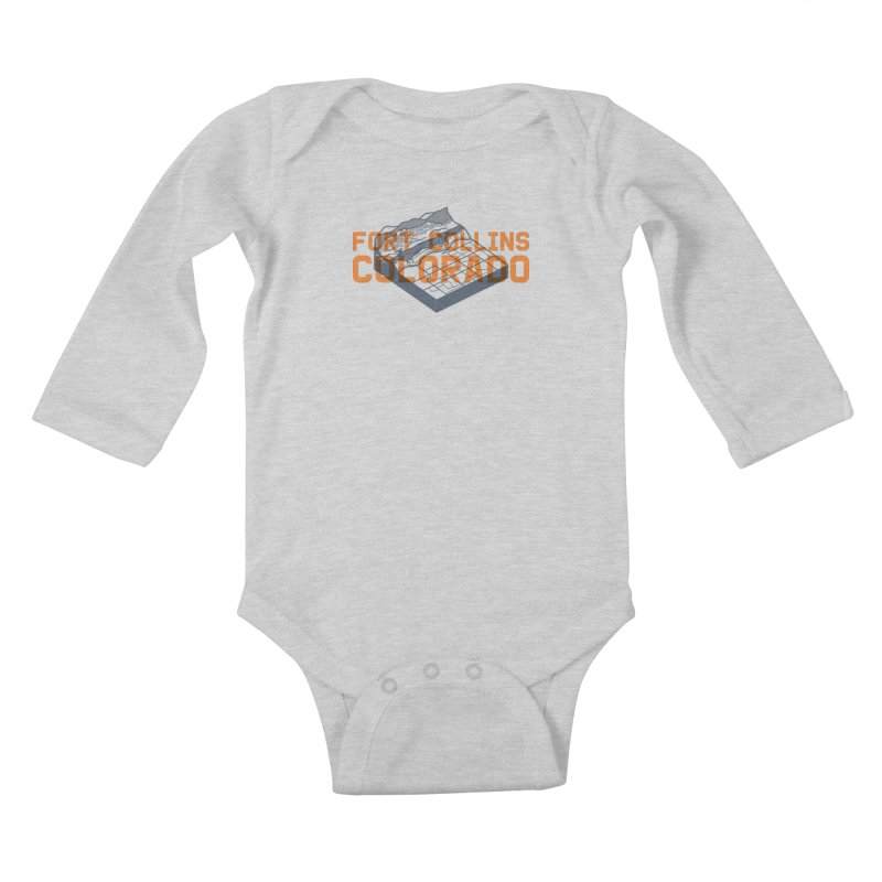 Fort Collins, Colorado Kids Baby Longsleeve Bodysuit by Steger