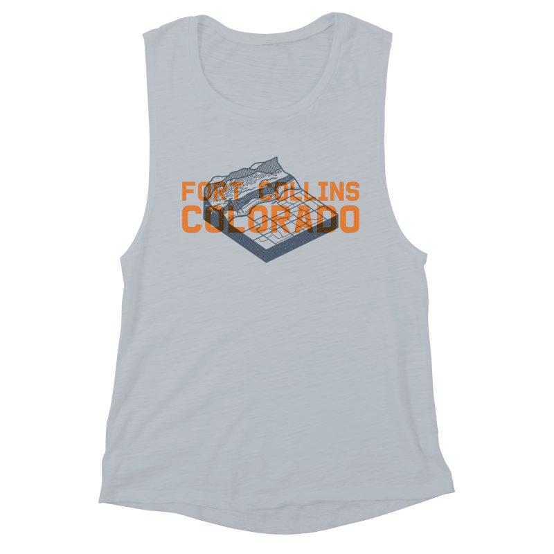 Fort Collins, Colorado Women's Muscle Tank by Steger