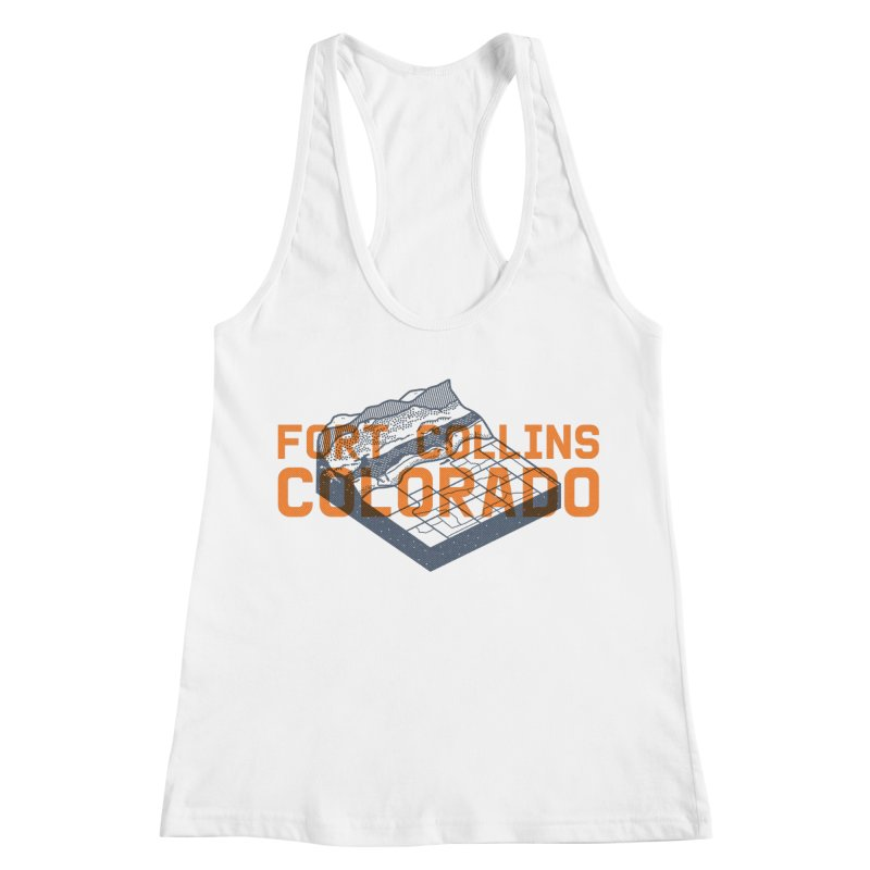 Fort Collins, Colorado Women's Racerback Tank by Steger