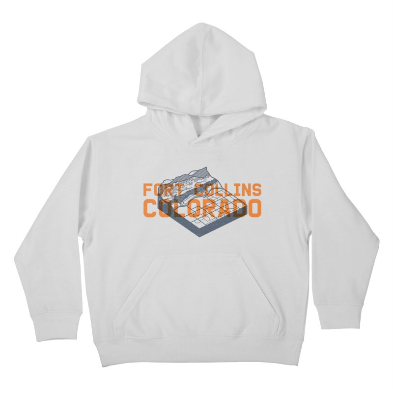 Fort Collins, Colorado Kids Pullover Hoody by Steger