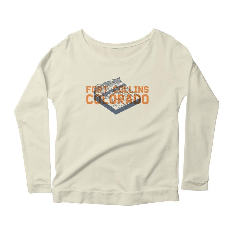 Fort Collins, Colorado Women's Scoop Neck Longsleeve T-Shirt by Steger