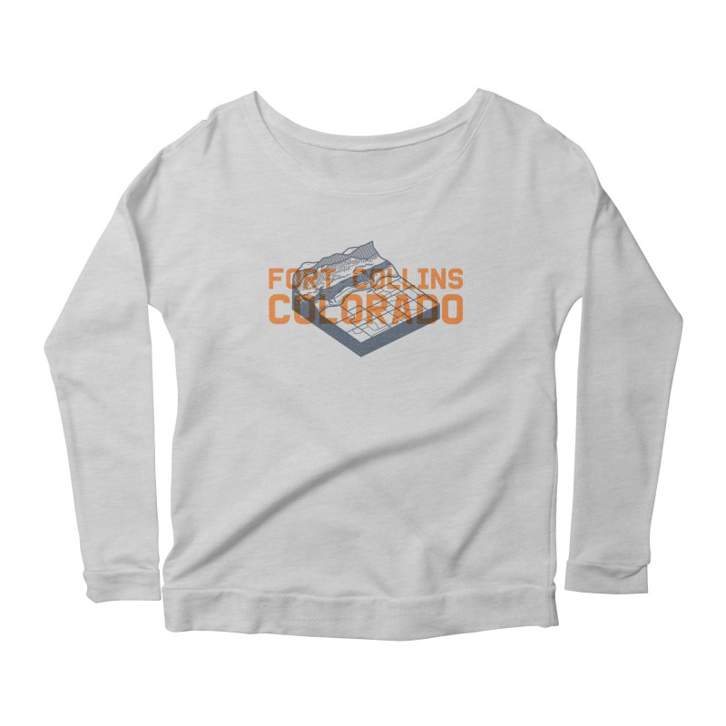 Fort Collins, Colorado Women's Scoop Neck Longsleeve T-Shirt by Steger