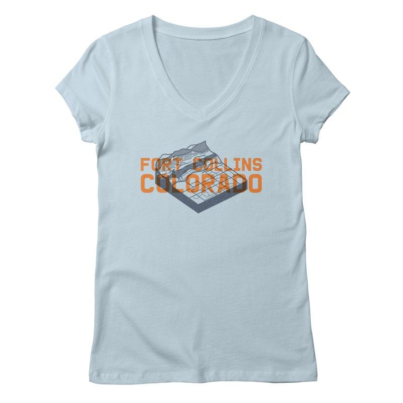 Fort Collins, Colorado Women's Regular V-Neck by Steger