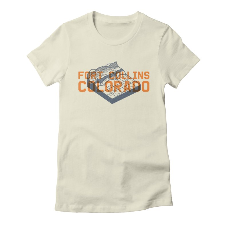 Fort Collins, Colorado Women's Fitted T-Shirt by Steger