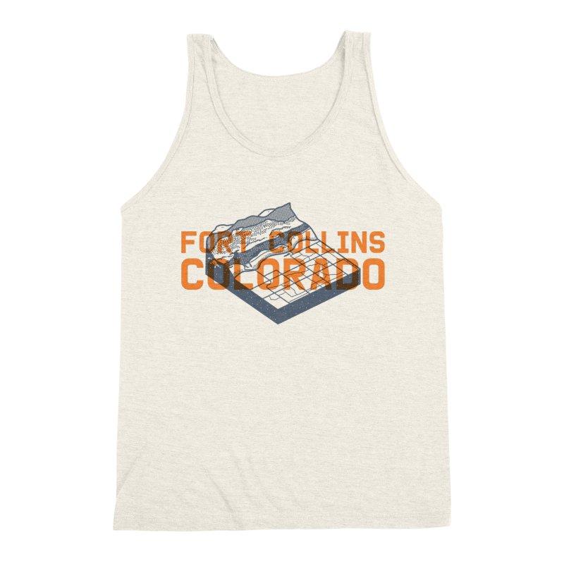 Fort Collins, Colorado Men's Triblend Tank by Steger