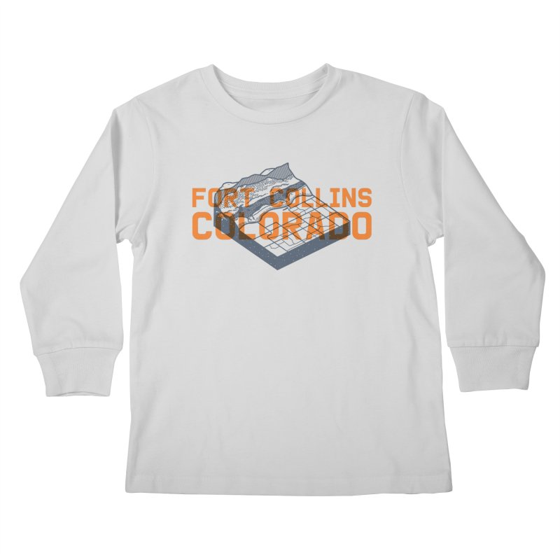 Fort Collins, Colorado Kids Longsleeve T-Shirt by Steger