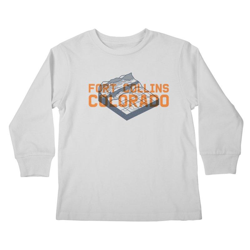 Fort Collins, Colorado Kids Longsleeve T-Shirt by Steger