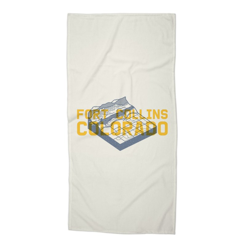 Fort Collins. Colorado Accessories Beach Towel by Steger