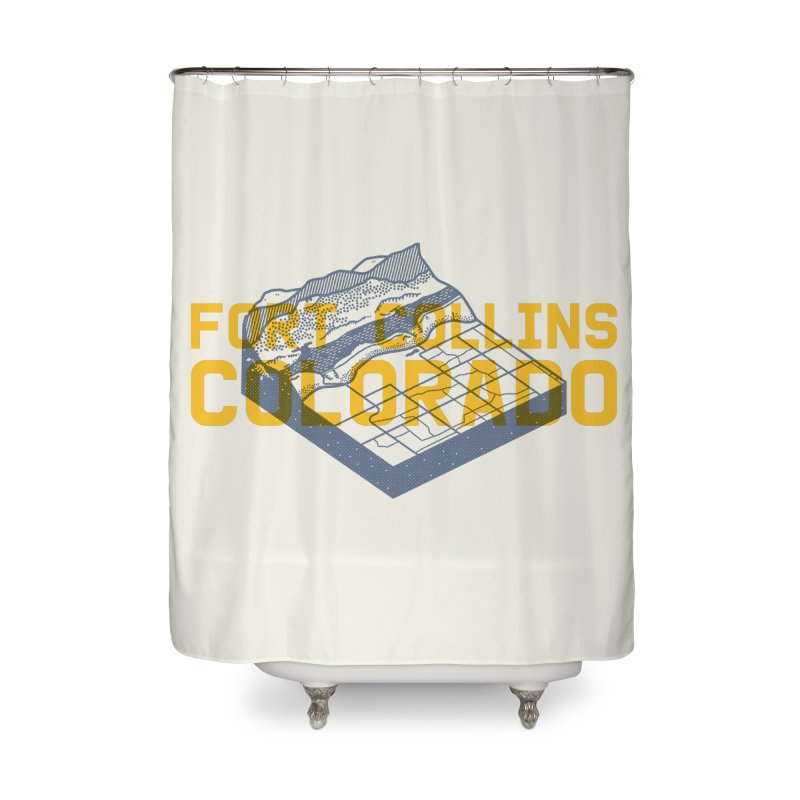 Fort Collins. Colorado Home Shower Curtain by Steger