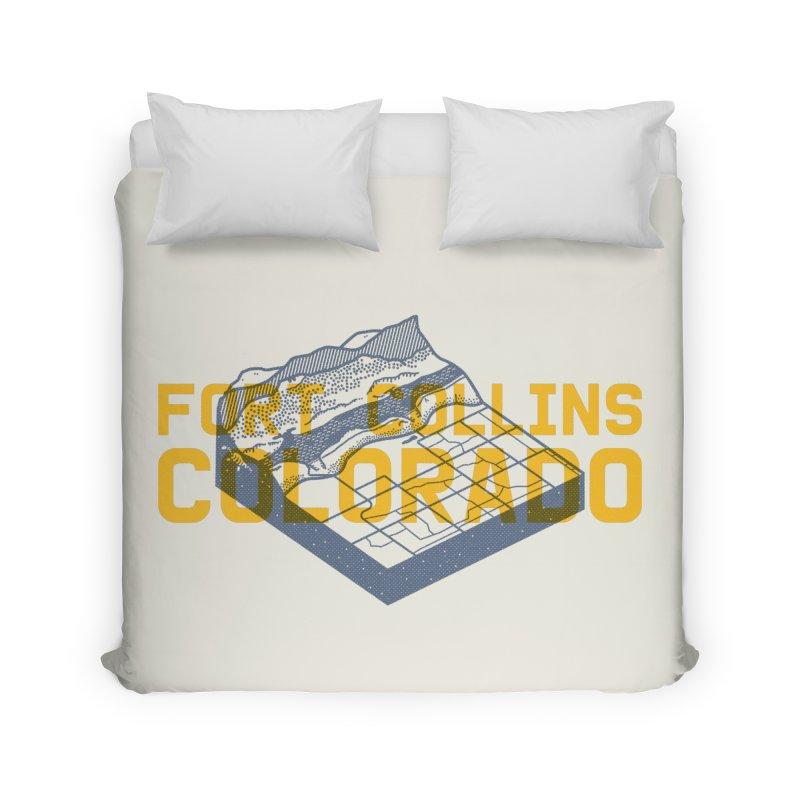 Fort Collins. Colorado Home Duvet by Steger