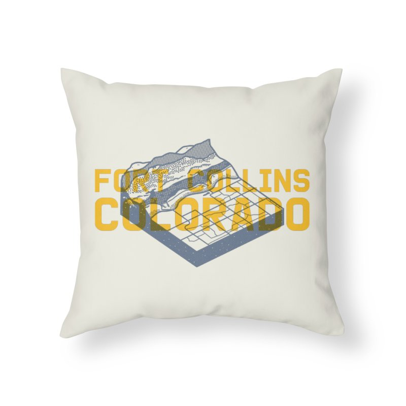 Fort Collins. Colorado Home Throw Pillow by Steger