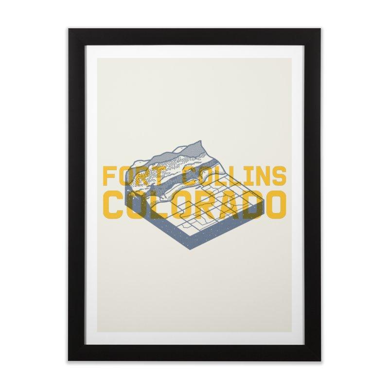 Fort Collins. Colorado Home Framed Fine Art Print by Steger