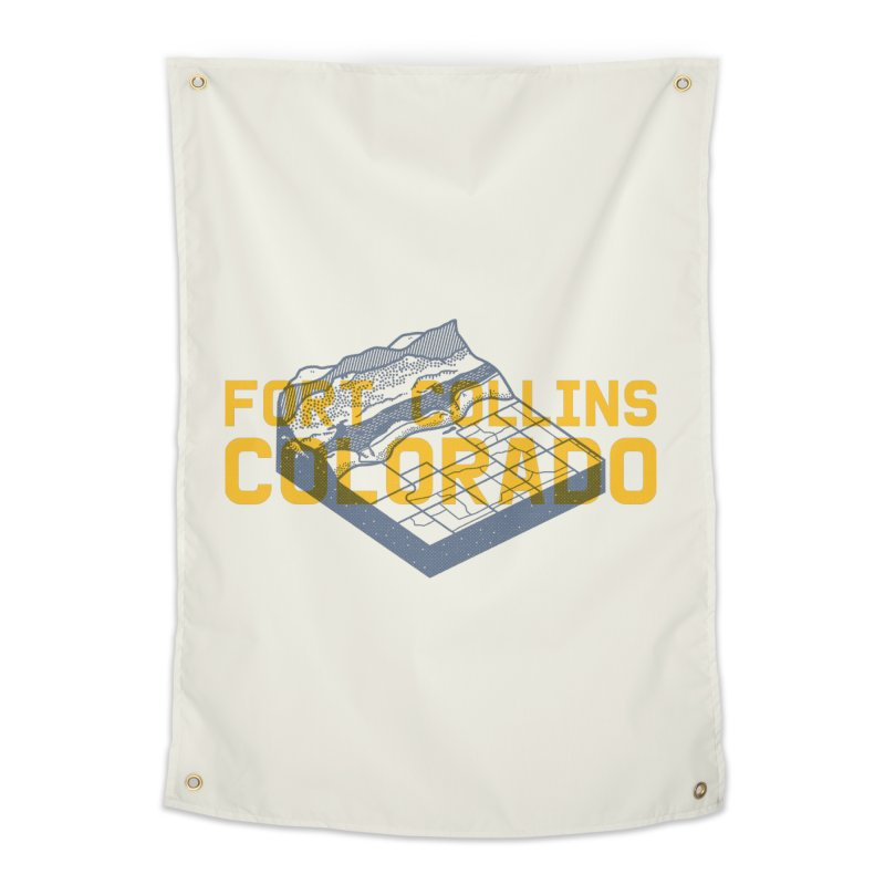 Fort Collins. Colorado Home Tapestry by Steger