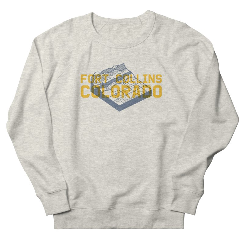 Fort Collins. Colorado Men's French Terry Sweatshirt by Steger