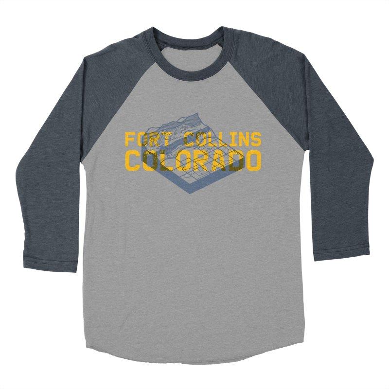 Fort Collins. Colorado Men's Baseball Triblend Longsleeve T-Shirt by Steger