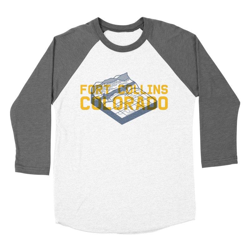 Fort Collins. Colorado Men's Baseball Triblend T-Shirt by Steger