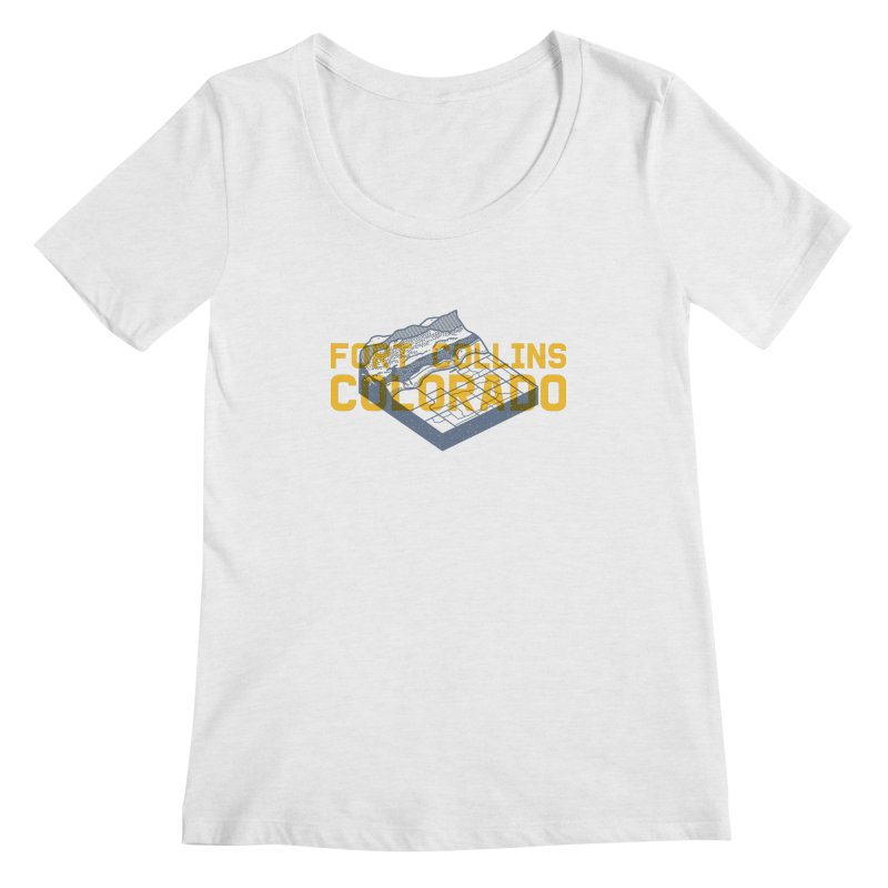 Fort Collins. Colorado Women's Scoopneck by Steger