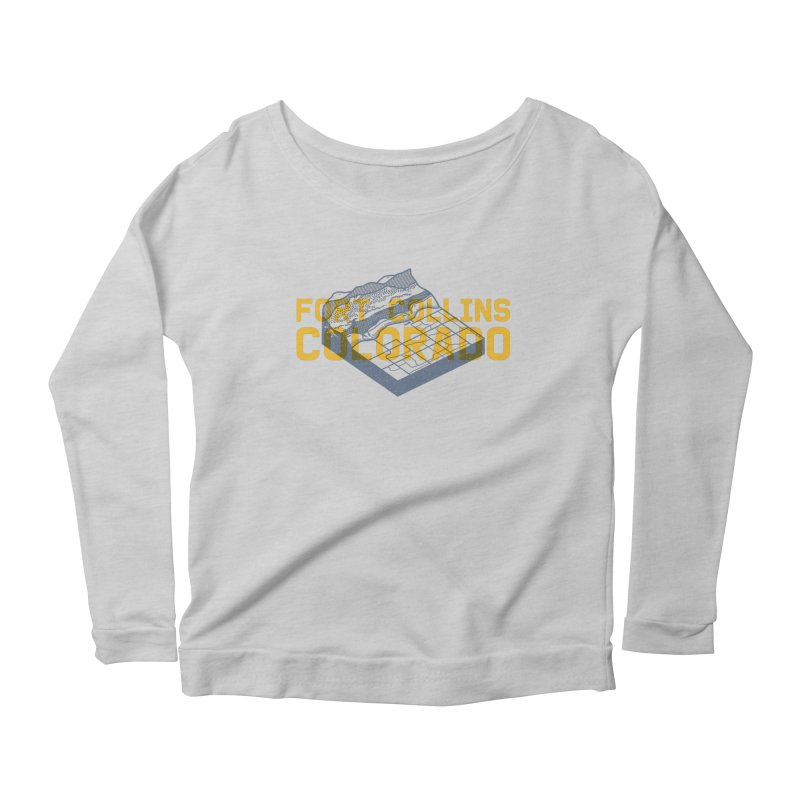 Fort Collins. Colorado Women's Scoop Neck Longsleeve T-Shirt by Steger