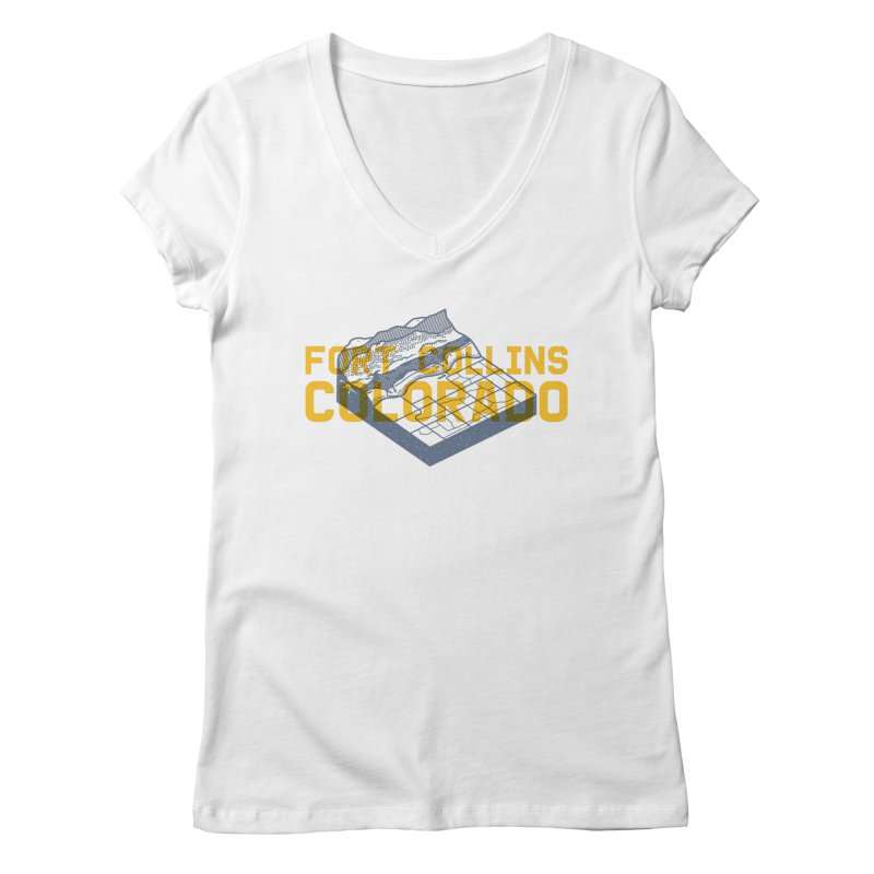Fort Collins. Colorado Women's V-Neck by Steger