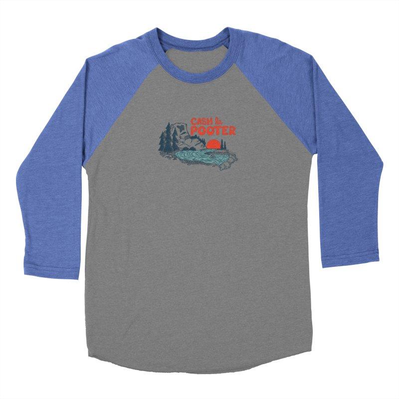 Cash La Pooter Men's Baseball Triblend Longsleeve T-Shirt by Steger