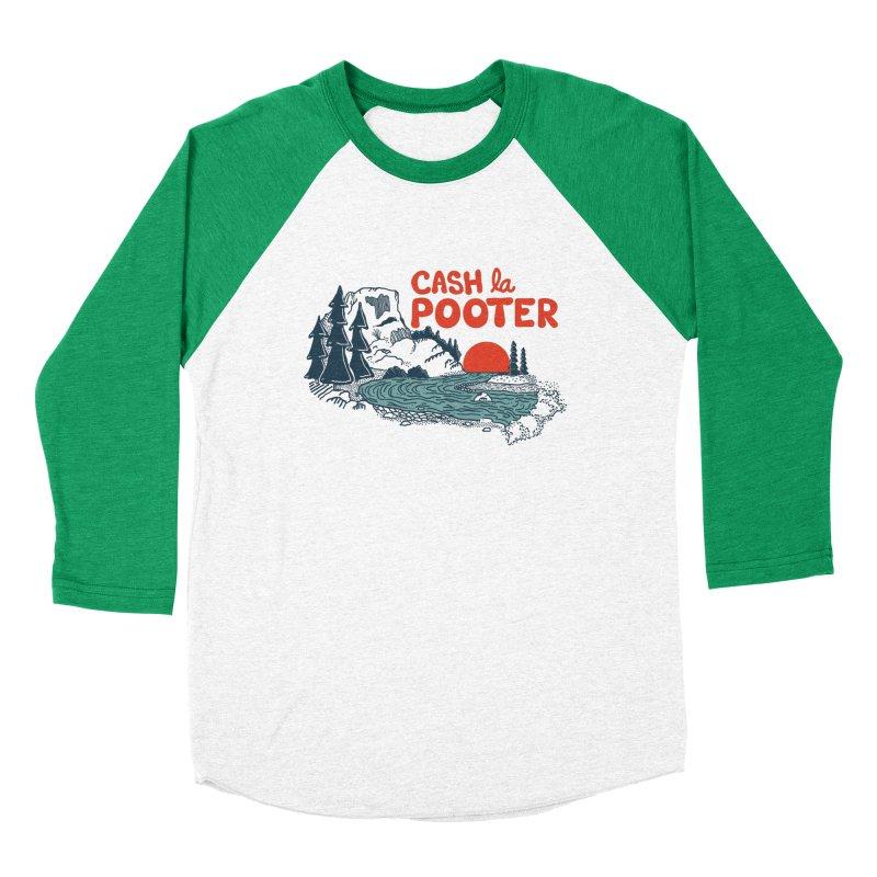 Cash La Pooter Women's Baseball Triblend Longsleeve T-Shirt by Steger