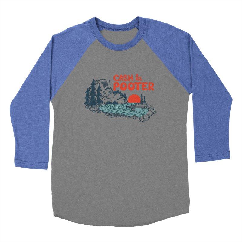 Cash La Pooter Men's Baseball Triblend T-Shirt by Steger