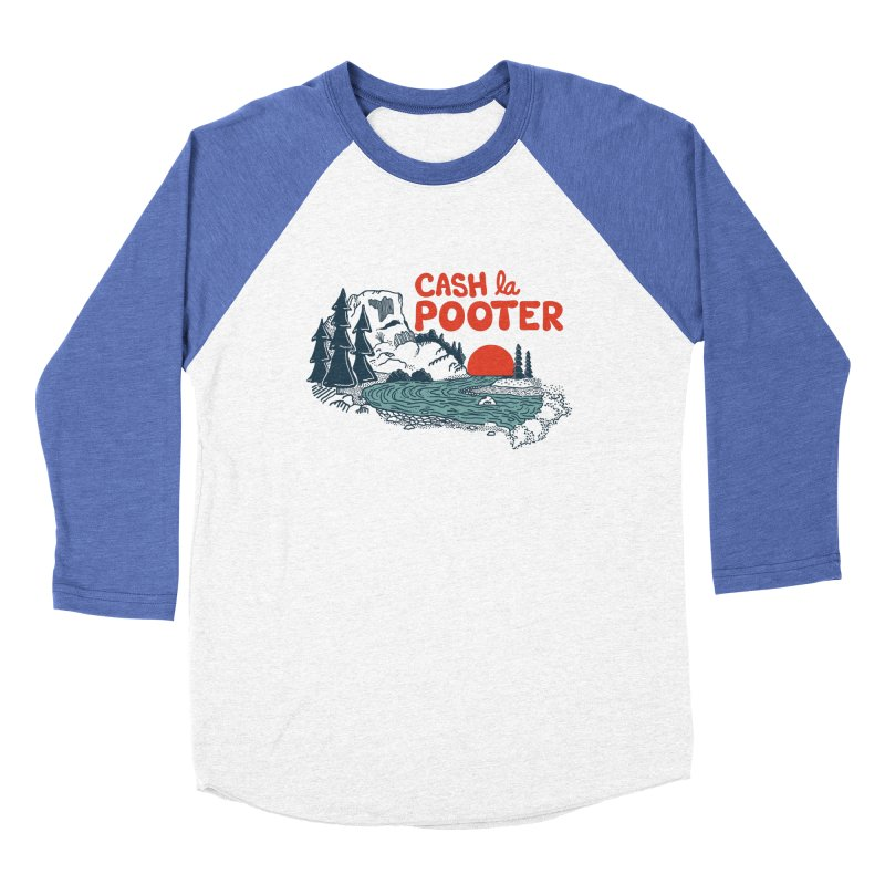Cash La Pooter Men's Baseball Triblend Longsleeve T-Shirt by Steger