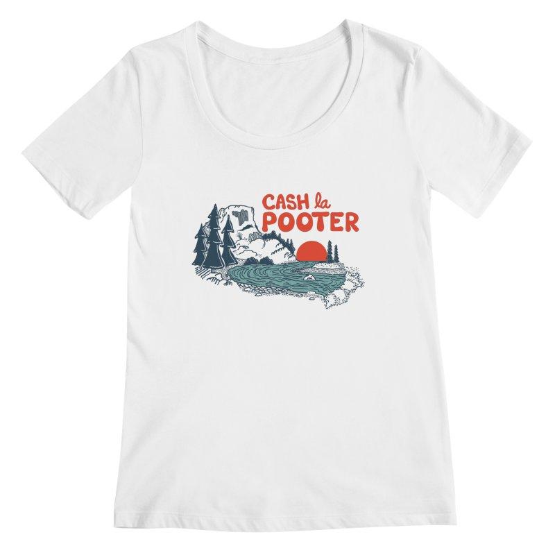 Cash La Pooter Women's Regular Scoop Neck by Steger