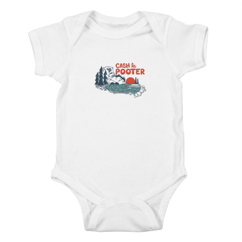 Cash La Pooter Kids Baby Bodysuit by Steger