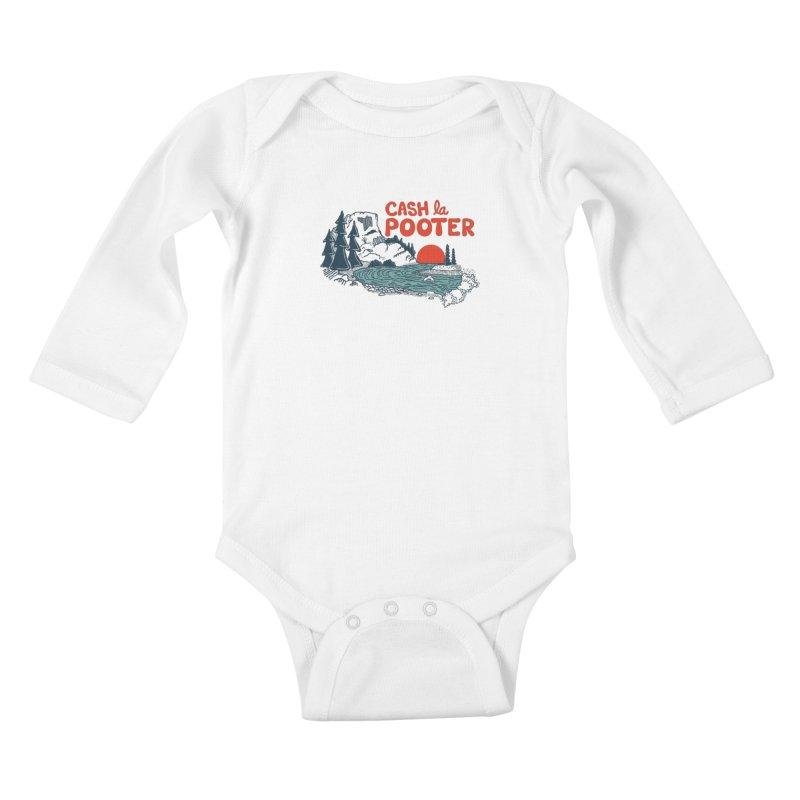 Cash La Pooter Kids Baby Longsleeve Bodysuit by Steger