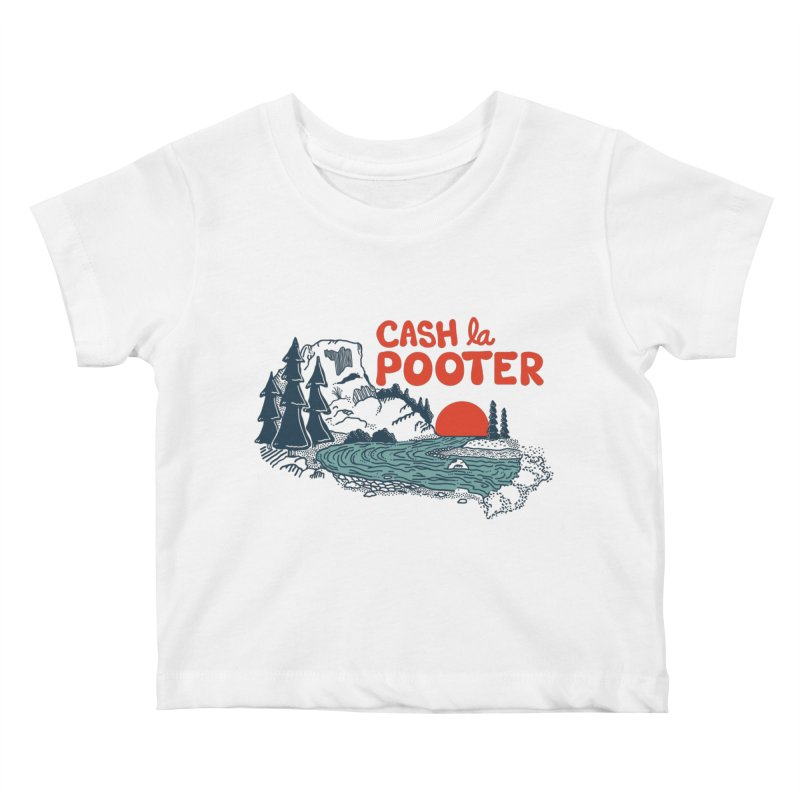 Cash La Pooter Kids Baby T-Shirt by Steger