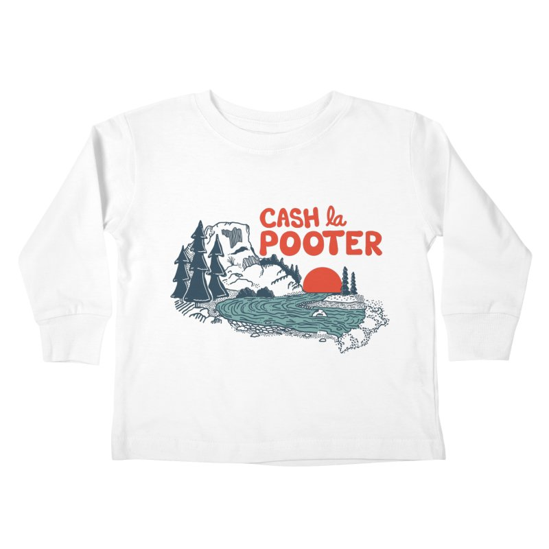 Cash La Pooter Kids Toddler Longsleeve T-Shirt by Steger