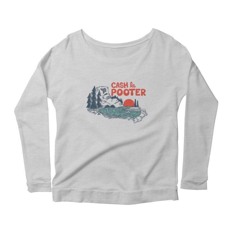 Cash La Pooter Women's Scoop Neck Longsleeve T-Shirt by Steger