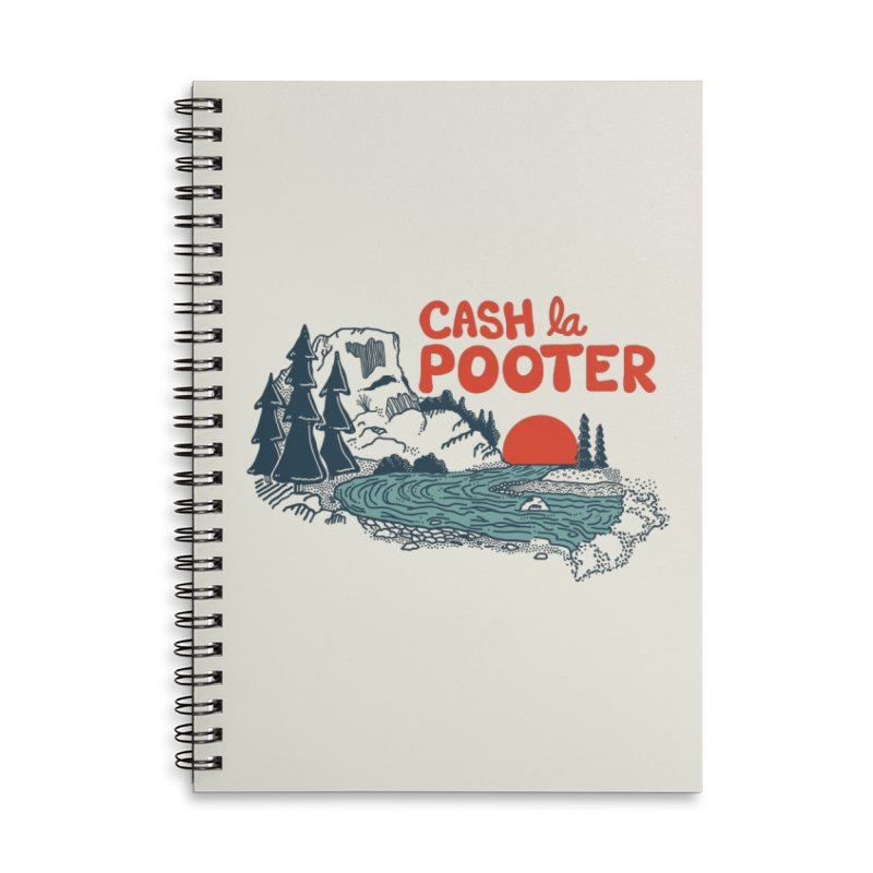Cash La Pooter Accessories Lined Spiral Notebook by Steger