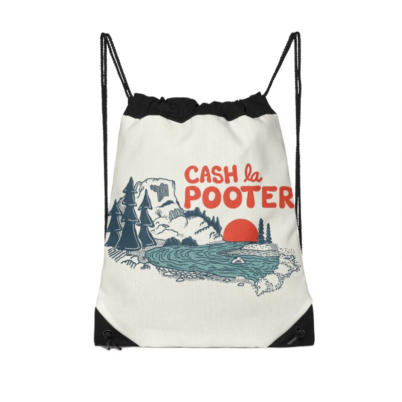 Cash La Pooter Accessories Drawstring Bag Bag by Steger