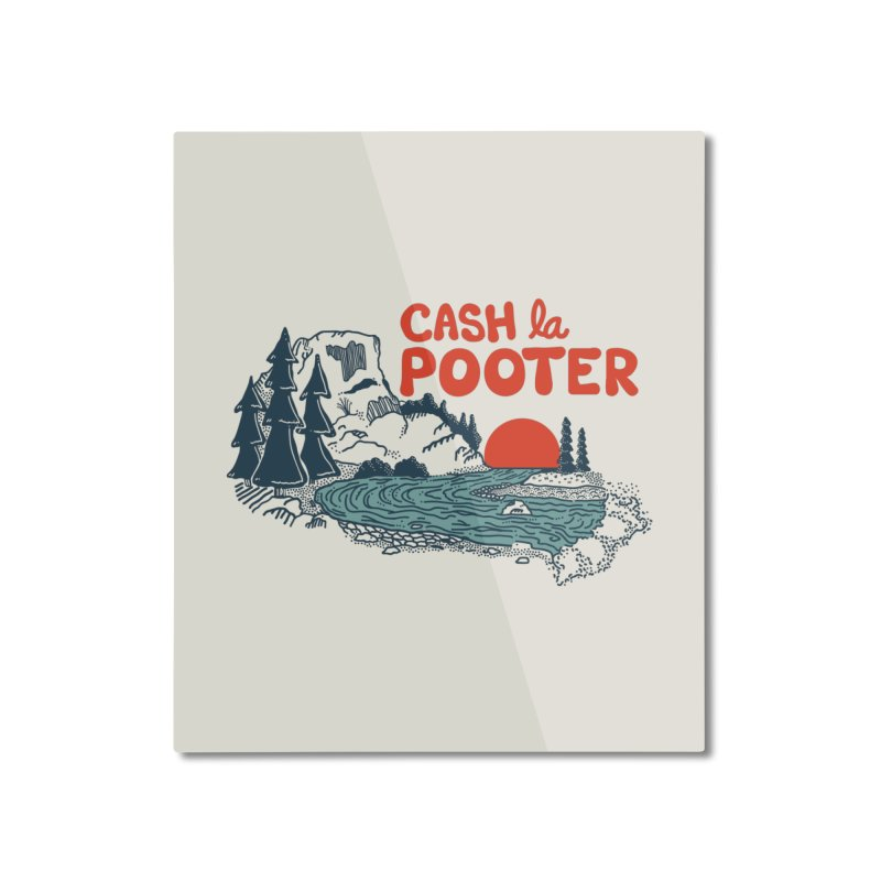 Cash La Pooter Home Mounted Aluminum Print by Steger