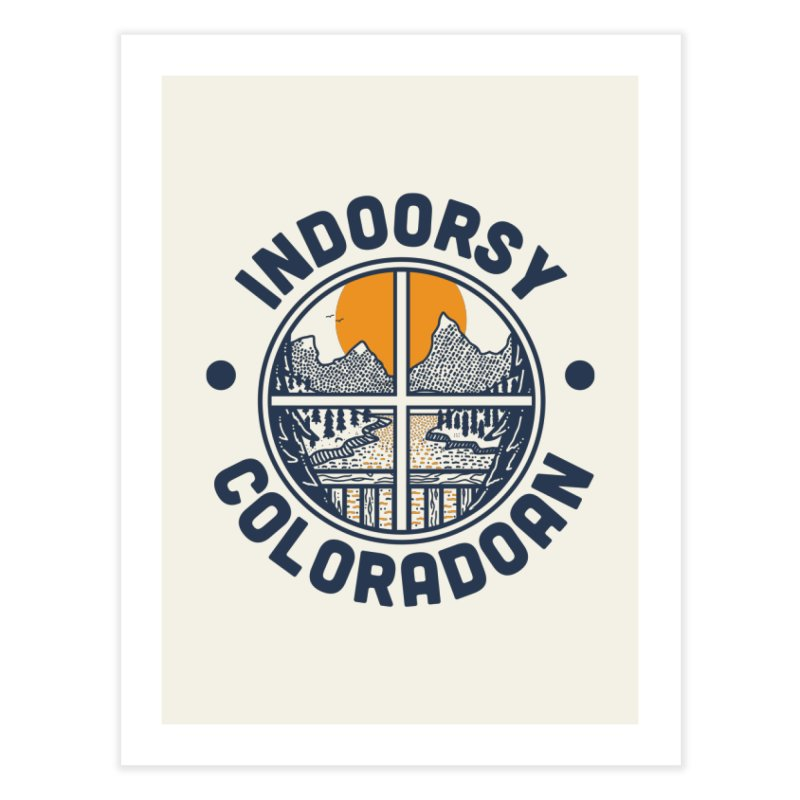 Indoorsy Coloradoan Home Fine Art Print by Steger