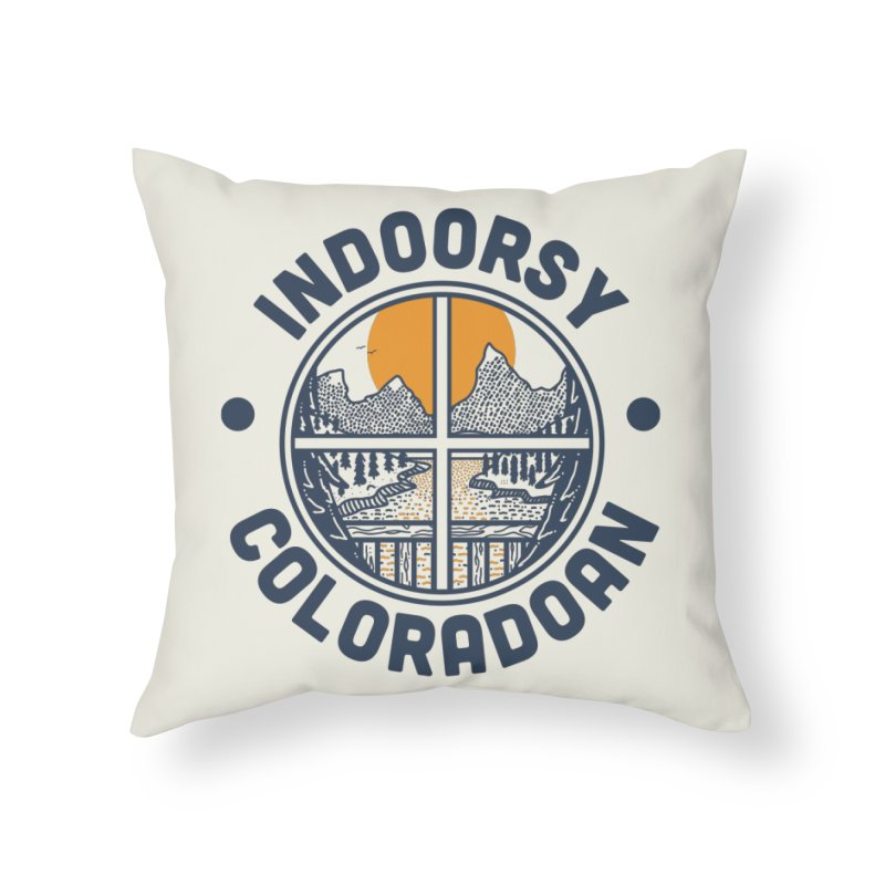 Indoorsy Coloradoan Home Throw Pillow by Steger